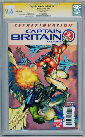 Captain Britain And MI13 #1 Variant CGC 9.6 Signature Series Signed Stan Lee Marvel comic book